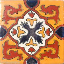 C#026) MEXICAN TILES CERAMIC HAND MADE SPANISH INFLUENCE TALAVERA MOSAIC ART