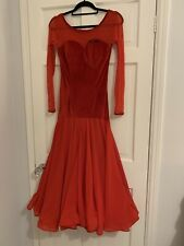 Red Ballroom Dress Size Uk 8-10