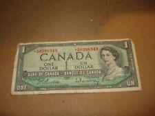 Asterisk - 1954 - $1 Canada note - Canadian one dollar bill - BM0398949
