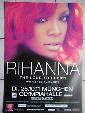 Rihanna 2011 Munich Orig. Concert-Concert-Tour-Poster - affiche Din a 1