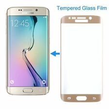 Gold Front SAMSUNG GALAXY S7 EDGE FULL CURVED 3D TEMPERED GLASS SCREEN PROTECTOR