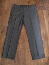 Un Uomo Grigio Taglia 36 in (ca. 91.44 cm) Girovita Pantaloni Lavoro Formale ESTATE INVERNO TASCHE GRANDI