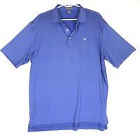Peter Millar Summer Comfort Polo Shirt Mens Large Periwinkle Short Sleeve