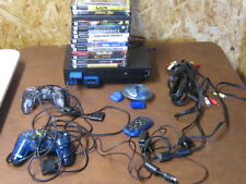 PLAY STATION  2--15 GAMES--CONTROLLERS & REMOTE AND  MORE---TESTED