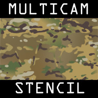 Multicam Stencil - Reusable A4 3 Sheets AMCU Camouflage Military Tactical Rifle