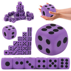 1PC Purple  EVA Foam Dice Specialty Large Party Game Supply Children Toy UK