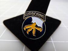 "Lapel Pin 17TH AIRBORNE Division Blue & Yellow Enamel 14/16"""
