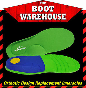 TBW 'ULTRA SUPPORT' INSOLES Orthotic Design Extra Comfort For Shoes & Work Boots