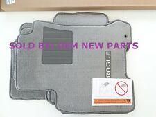 2008-2014 Nissan Rogue S / Krom Carpet Floor Mat Set Front Rear Light Grey