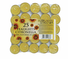Citronella Fragranced Tealight Candles Prices Mosquito Fly Insect Repeller 25 Tealights