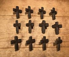 "Cast Iron Cross Nail 3"" by 2 1/4"" Religious (Set of 12) Craft Decor 0170S-02114"