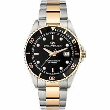 Orologio Philip Watch Caribe R8253597041 nero watch SWISS 42mm uomo Bicolore Oro