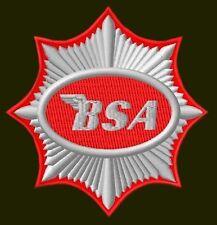"BSA EMBROIDERED PATCH ~3-1/2"" MOTORCYCLES RICAMATO BORDADO PARCHE AUFNÄHER BIKER"