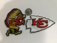 (2) Kansas City Chiefs Kansas City Chiefs embroidered iron on PATCH LOT Patches