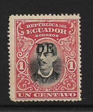TUNGURAGUA SMALL 'DE' 1902 ECUADOR FIRE LOCAL PROTECTIVE PROVINCIAL OVERPRINT