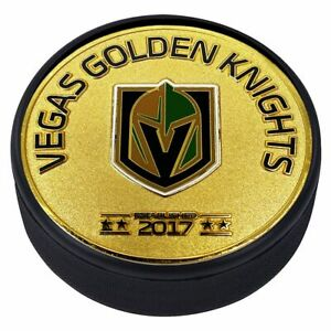 Vegas Golden Knights 3D Textured Silver Plated Medallion Hockey Puck