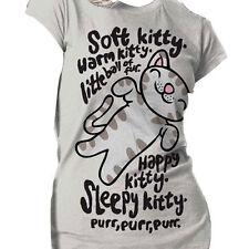 Big Bang Theory OFFICIAL T-Shirt Ladies Sheldon Cooper Soft Kitty Warm Kitty