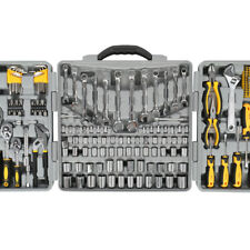 Craftsman 205 pc Grey Carbon Steel Heated Mechanic Tool Set Hand Tools Kit Case