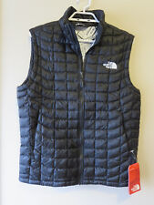 Mens New North Face Thermoball Vest Size Small Color TNF Black