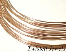 1Ft 20 GA 14K Rose Gold-Filled HALF-ROUND Dead Soft Jewelry Wire Wrap Gauge G US