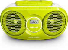 STEREO PORTATILE PHILIPS LETTORE CD BOOMBOX  3 WATT FM ENTRATA AUX VERDE