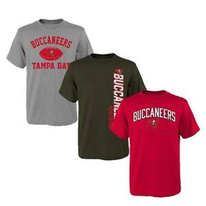 Tampa Bay Bucanneers  3 Pack T-shirts Youth Large FREE SHIP! ** 3 SHIRTS TOTAL!
