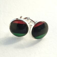 New Pan African  country Flag Cufflinks & Gift Pouch Pan Africa