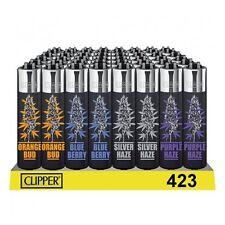 SET DI 4 ACCENDINI CLIPPER STRAINS BLACK TOP Weed Da Collezione Lighter Gift Box
