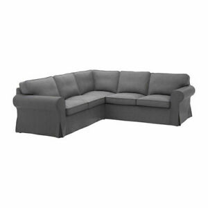 Ikea cover set for Ektorp Corner Sofa, 4-Seat in Nordvalla Dark Grey  904.039.07