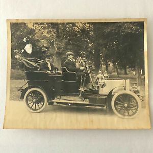 Vintage Photograph Photo Early Antique Car with Driver