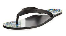 Fendi Men's Black Multi-Color Confetti Flip-Flops Sandals Size 10D