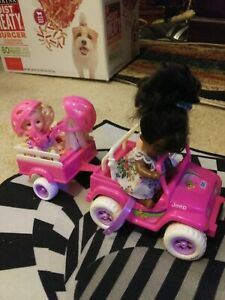 Barbie Kelly Friends And Other Friends Jeep And Trailer