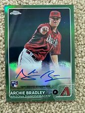 ARCHIE BRADLEY 2015 Topps Chrome ROOKIE GREEN REFRACTOR AUTO 31/99 (Angels)