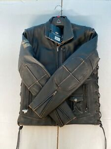 NWT Harley Davidson Mens Panhead II Convertible Leather Jacket Vest 98023 Medium