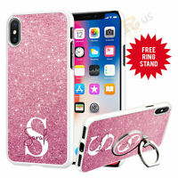Personalised Phone Case Cover & Finger Ring Stand Holder For Top Mobiles 072-5