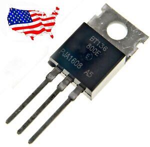 ' BT136-800E (5 pcs) 800V 4A TO-220 TRIAC - from USA