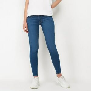 Jeans Super Skinny Donna LEVI'S 710 SCULPT 17778-0237 Blu Denim W26 L32