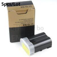 5X EN-EL15 Battery for Nikon D7100 D7200 D7000 D600 D610 D800 MH-25 MB-D15