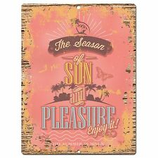 PP0883 The Season of SUN Parking Plate Chic Sign Home Restaurant Cafe Decor