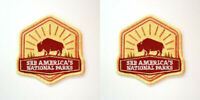 Set of 2 Patches - Official See America's National Parks - NPS Service Souvenir