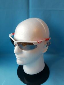 Epoch Bravo White/Red - HC Bwn Lens Polarized Super Hydrophobic Fishing Glasses