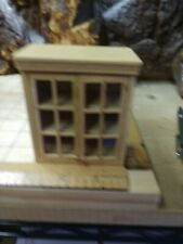 """Concord Miniatures 1"""" Scale Dollhouse Furniture: Upper Kitchen Cabinet natural"""