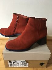 Camper Red  Suede Ankle Boots size 6