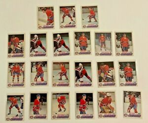 1977-78: O-PEE-CHEE [21 CARD LOT] - CANADIENS | OPC JARVIS, BOUCHARD, GAINEY