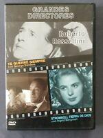 DVD TE QUERRÉ SIEMPRE + STROMBOLI TIERRA DE DIOS Grandes Directores ROSSELLINI