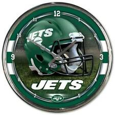 NFL New York Jets Horloge Murale Mur Horloge Chrome Montre Football