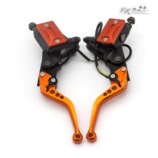 CNC Brake Clutch Master Cylinder Reservoir hydraulic Levers Set Short For KTM