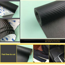 120*50CM Carbon Fiber Leather Sticker for Car Scuff Plate Anti-scratch Protector