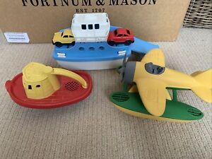 Green Toys Car Ferry, Sea Plane, Boat Bath Toy Sand Worth £48!!