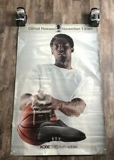 Vintage Kobe Bryant Adidas Advertisement Poster Kobe 2 Double Sided Promo 76x48